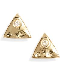 Gorjana - Triangle Charm Stud Earrings - Lyst