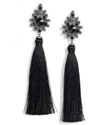 Tasha - Beaded Post Tassel Drop Earrings - Lyst