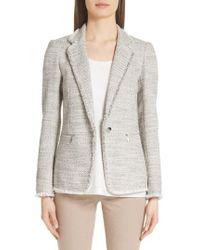a5e80b8df2c22 Lyst - Lafayette 148 New York Essa Tweed Jacket in White