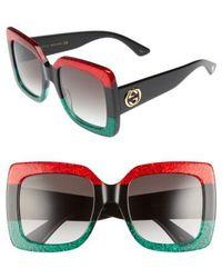 Gucci - 55mm Square Sunglasses - Lyst