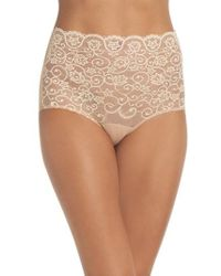 Commando - 'double Take' Lace Front High Rise Panties - Lyst