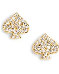 Kate Spade - Things We Love Spade Stud Earrings - Lyst
