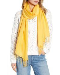 Nordstrom - Tissue Weight Wool & Cashmere Scarf - Lyst