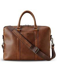 Shinola - Navigator Leather Briefcase - Lyst
