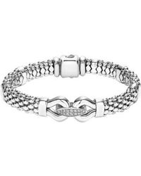 Lagos - 'derby' Diamond Buckle Rope Bracelet - Lyst