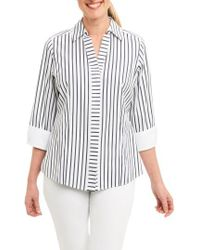 Foxcroft | Taylor Non-iron Stripe Cotton Shirt | Lyst
