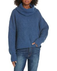 Nordstrom - Cable Cashmere Blend Sweater - Lyst