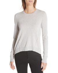 ATM - Forward Seam Silk, Wool & Cashmere Sweater - Lyst