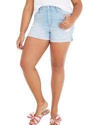 Madewell - High Waist Denim Cutoff Shorts - Lyst