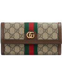 Gucci - Ophidia Gg Supreme Continental Wallet - Lyst