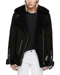 AllSaints - Garrix Shearling Jacket - Lyst
