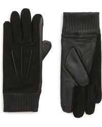 Polo Ralph Lauren - Nappa Leather & Suede Gloves - Lyst