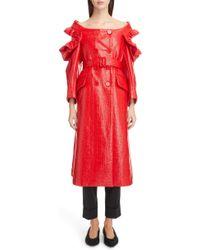 Simone Rocha - Laminated Tweed Coat - Lyst