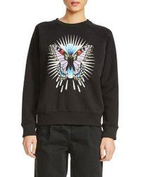 Maje - Butterfly Sweatshirt - Lyst