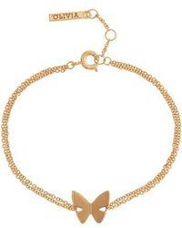 Olivia Burton - Social Butterfly Chain Bracelet - Lyst