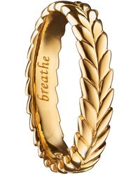 Monica Rich Kosann - Breathe 18k Gold Ring Charm - Lyst