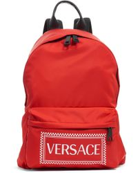Versace - Logo Nylon Backpack - None - Lyst