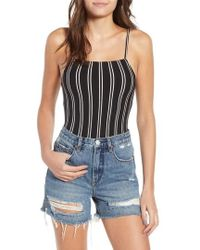 Obey - Lockette Stripe Bodysuit - Lyst