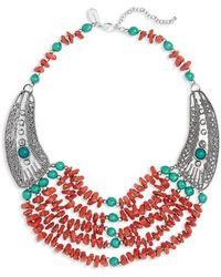Natasha Couture - Multistrand Beaded Necklace - Lyst