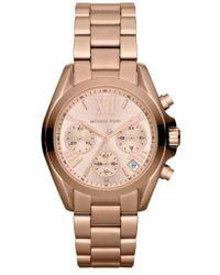 Michael Kors - Michael Kors 'bradshaw - Mini' Chronograph Bracelet Watch - Lyst