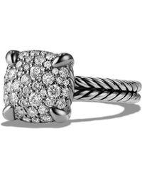 David Yurman 'châtelaine' Ring With Diamonds - Metallic