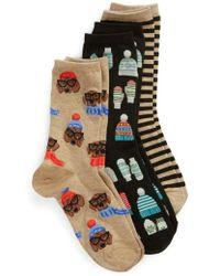 Hot Sox - 3-pack Mittens Socks - Lyst