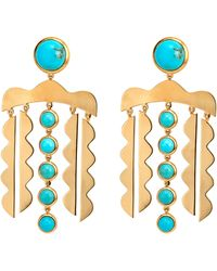 Asha - Mustique Chandelier Drop Earrings - Lyst