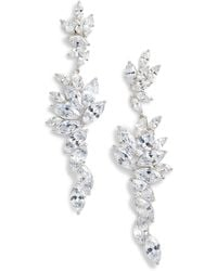 Nina - Layered Marquise Cubic Zirconia Statement Earrings - Lyst