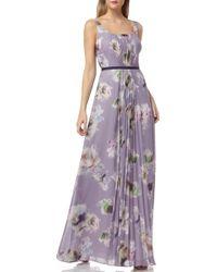 2219dafb89e Lyst - Eliza J Petite Floral Print Chiffon Maxi Dress in Pink