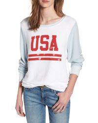 Wildfox - Usa Baggy Beach Jumper Pullover - Lyst