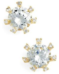 CZ by Kenneth Jay Lane | Embellished Prong Cubic Zirconia Stud Earrings | Lyst