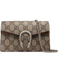 5690d533d27e Gucci - Super Mini Dionysus Gg Supreme Canvas & Suede Shoulder Bag - Lyst