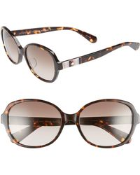 Kate Spade - Cailee 56mm Special Fit Sunglasses - Dark Havana - Lyst