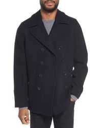 Michael Kors - Wool Blend Double Breasted Peacoat - Lyst