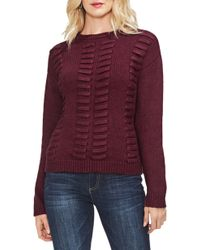 Vince Camuto - Vince Camtuo Lace Through Detail Cotton Blend Sweater - Lyst