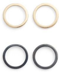 INK AND ALLOY - Ink + Alloy Circle Stud Earrings - Lyst