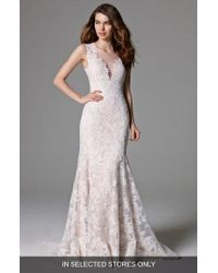 Watters - Ashland Lace Mermaid Gown - Lyst