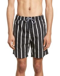 c4ef2973f0 Zanerobe Kahuna Laguna Swim Trunk in Black for Men - Lyst