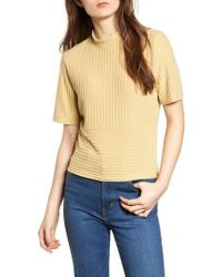 Project Social T | Mock Neck Ribbed Top | Lyst