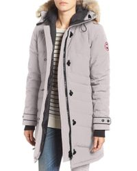 Canada Goose - 'lorette' Hooded Down Parka With Genuine Coyote Fur Trim - Lyst