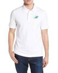 Cutter & Buck - Miami Dolphins - Advantage Regular Fit Drytec Polo - Lyst