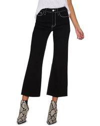 Sanctuary - Non Comformist Contrast Stitch Wide Leg Crop Jeans - Lyst