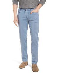 Bugatchi - Slim Fit Washed Five-pocket Pants - Lyst