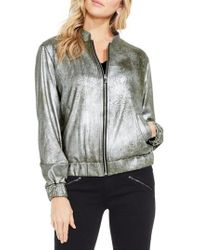 Two By Vince Camuto - Foiled Ponte Knit Bomber Jacket - Lyst