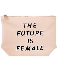 Sonix - The Future Is Female Faux Leather Everyday Pouch - Lyst