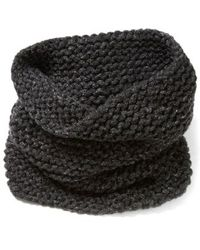 Lafayette 148 New York - Hand Knit Metallic Cashmere Tube Scarf - Lyst