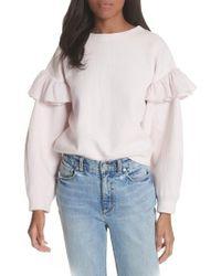 Rebecca Taylor | Ruffle Sleeve Sweatshirt | Lyst