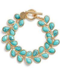 Melinda Maria - Leaf Turquoise Bracelet - Lyst