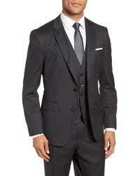 BOSS - Johnstons Cyl Classic Fit Solid Wool Sport Coat - Lyst