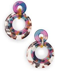 Lele Sadoughi - Banded Hoop Earrings - Lyst